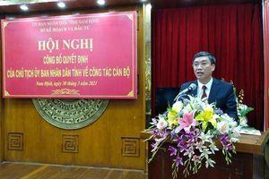 Nam Định có Giám đốc Sở Kế hoạch và Đầu tư mới