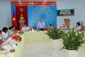 Chủ tịch UBND tỉnh An Giang Nguyễn Thanh Bình khảo sát thực tế và làm việc với UBND huyện Chợ Mới