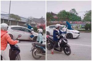 Gặp chồng chở bồ, chị vợ có màn đánh ghen như 'phim hành động'