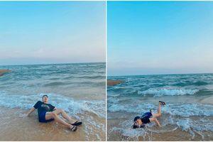 Bắt chước khoảnh khắc soái ca, Duy Khánh bất ngờ cho ra bộ sưu tập ảnh 'đuối nước'