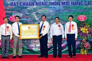 Xã đầu tiên của huyện vùng cao Văn Chấn đạt chuẩn nông thôn mới nâng cao