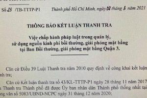 Phát hiện hàng loạt vi phạm tại Ban Bồi thường giải phóng mặt bằng quận 3, TP HCM