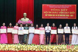 30 giáo viên xuất sắc trong Hội thi giáo viên dạy giỏi THCS huyện Thạch Hà