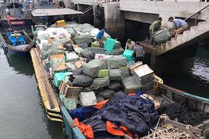 Hải đội 1 chủ trì bắt giữ vụ vận chuyển trái phép hàng hóa trên vùng biển Vịnh Bắc bộ