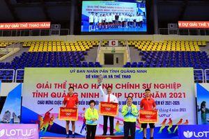 TP Hạ Long đoạt giải Nhất toàn đoàn Giải Thể thao HCSN - Cup Lotus 2021