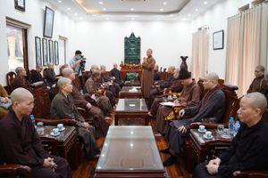 Ban Trị sự GHPGVN TP.Hà Nội họp chuẩn bị Đại giới đàn Phật lịch 2565