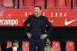 HLV Simeone vẫn bình thản dù Atletico sảy chân