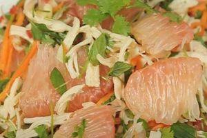 Mách các mẹ món gỏi bưởi trộn thịt gà, ăn vừa ngon lại không lo béo