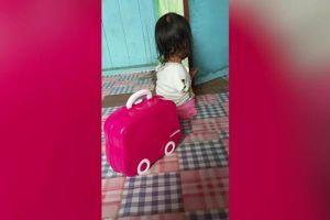 Nỗ lực phi thường của bé gái chỉ có 1 chân trái ở Indonesia
