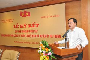 Ký kết Quy chế phối hợp công tác giữa Đảng ủy Tổng công ty Thuốc lá Việt Nam và Huyện ủy Hà Trung, tỉnh Thanh Hóa