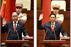 Lãnh đạo các nước chúc mừng Chủ tịch nước Nguyễn Xuân Phúc, Thủ tướng Phạm Minh Chính