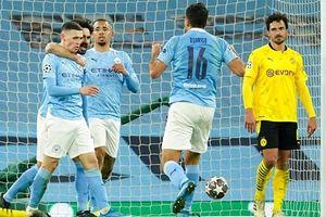 Thắng kịch tính phút cuối, Man City nắm lợi thế trước Dortmund