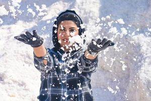 'Núi tuyết' ở Ai Cập thu hút du khách