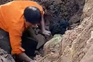 Thực hư thông tin 'có người đàn ông dưới lòng đất' khi đào đường Tố Hữu