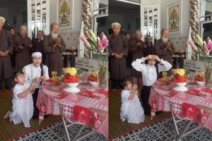 Linh Lan cúng 100 ngày cho Vân Quang Long: Hình ảnh con gái nhỏ quỳ thắp hương cho bố khiến fan xót xa