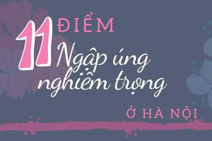 11 điểm ngập úng nghiêm trọng ở Hà Nội