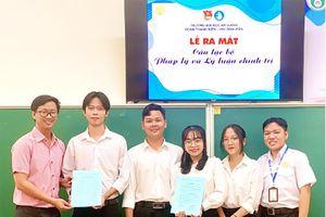 Đoàn trường Đại học An Giang ra mắt Câu lạc bộ 'Pháp lý và lý luận chính trị'