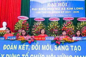 Xã Kim Long tổ chức Đại hội Phụ nữ nhiệm kỳ 2021-2026