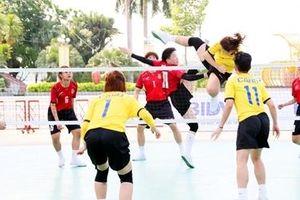 Đội cầu mây CAND vô địch nội dung 4 nữ tại Giải Vô địch các CLB quốc gia 2021