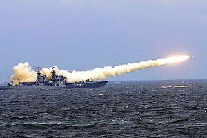 Nga lần đầu phóng tên lửa Kalibr từ khinh hạm Shaposhnikov
