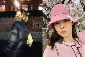 Hết Jeon Somi khổ vì khẩu trang LV tới Jennie bị chê trách vì mặc áo Chanel đi ngắm hoa