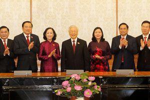 Tổng Bí thư Nguyễn Phú Trọng trao quyết định phân công Trưởng ban Tổ chức T.Ư và Trưởng ban Dân vận T.Ư