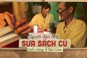 Đôi tay mang 'màu thời gian' của người đàn ông 40 năm làm nghề sửa sách ở Sài Gòn