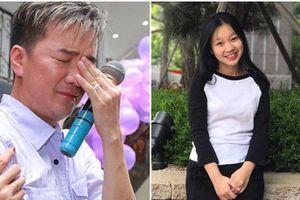 Đàm Vĩnh Hưng vừa đi xe vừa khóc khi nhận được tin nhắn của con gái cùng huyết thống
