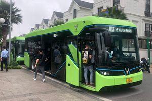 Xe buýt điện của VinBus chính thức đi vào vận hành