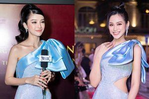 Mặc váy giống Hoa hậu Đỗ Thị Hà, 'nàng Kiều' Mỹ Duyên vẫn bị 'nuốt dáng' dù cao mét bảy