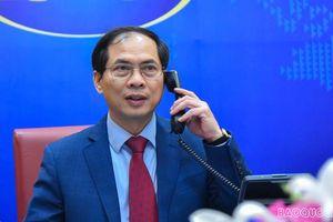Bộ trưởng Ngoại giao các nước Lào, Campuchia và Indonesia điện đàm chúc mừng Bộ trưởng Ngoại giao Bùi Thanh Sơn