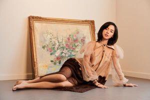 Khánh Linh hóa nàng xuân với trang phục tái chế của NTK Xuân Lê