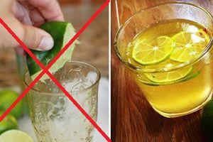 Sai lầm khi uống nước chanh mất sạch vitamin C, khiến dạ dày bị bào mòn
