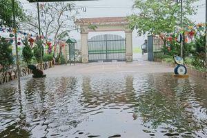 Nghệ An: Mưa lớn bất ngờ, nhiều đường và trường học bị ngập cục bộ
