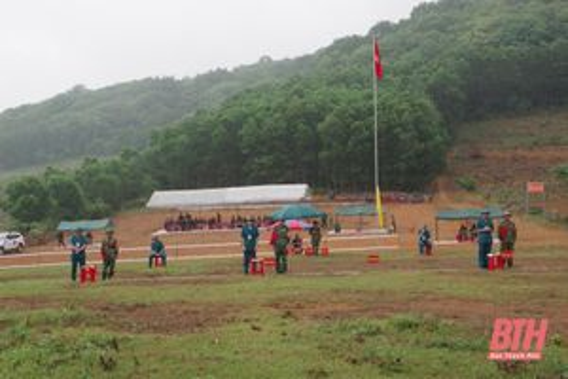 Huyện Thạch Thành tổ chức hội thi pháp luật về dân quân tự vệ năm 2021