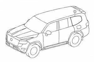 Rò rỉ bản vẽ thiết kế Toyota Land Cruiser hoàn toàn mới
