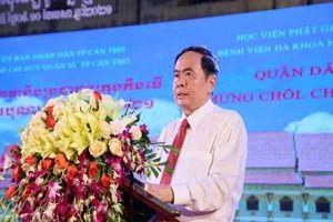 Ông Trần Thanh Mẫn chúc mừng tết Chôl Chnăm Thmây ở Cần Thơ