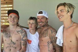 Kỳ nghỉ của David Beckham và ba con trai