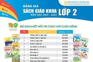 NXB Giáo dục Việt Nam công bố giá sách giáo khoa lớp 2 và lớp 6 bộ mới