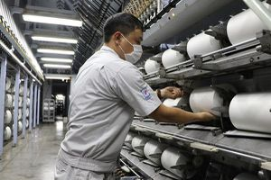 VNPOLY và các đối tác sản xuất được gần 2.000 tấn sợi DTY