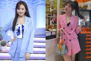 Áo blazer dễ diện nhưng Hari Won cũng có những lần mặc lỗi