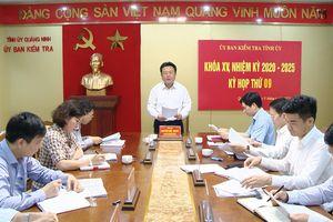 Kỳ họp thứ 9 Ủy ban Kiểm tra Tỉnh ủy