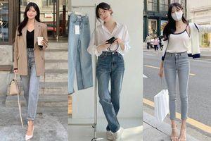 Học nàng blogger Hàn cách diện jeans 'đỉnh của chóp': Vừa hack dáng vừa thanh lịch để đến sở làm