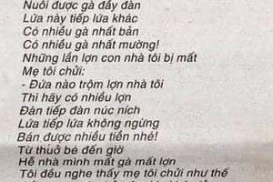 Bài thơ 'Mẹ tôi chửi kẻ trộm' vừa được trao giải cao nhất cuộc thi thơ báo Văn Nghệ 2019-2020 gây tranh luận gay gắt