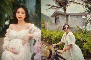 Style thời trang giấu bụng bầu tài tình của Phanh Lee