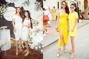 Trương Ngọc Ánh và con gái diện đồ đôi sành điệu, nữ tính