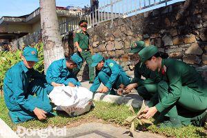 Đoàn Thanh niên Bộ CHQS tỉnh ra quân 'Ngày Chủ nhật xanh'