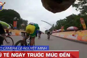 Video góc camera Lê Nguyệt Minh: Cú té đau trước mức đến
