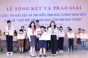 Học sinh lớp 4 đoạt giải Đặc biệt cuộc thi tìm hiểu về Tem Bưu chính