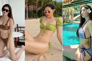 Dàn Hoa, Á hậu cùng diện bikini nóng bỏng chào hè